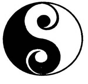 yin yang a taijitsu with the dot elements formed by spirals yin rh pinterest com au Cool Yin Yang Designs Yin Yang Drawings