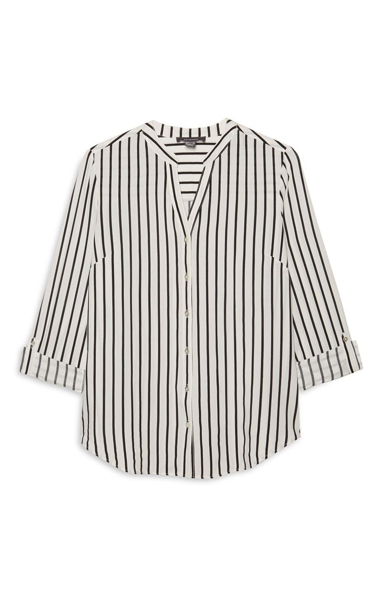 82da926908526d Ivory Stripe Shirt Mouwloze Blouse, Primark, Get The Look, Bell Sleeves,  Bell