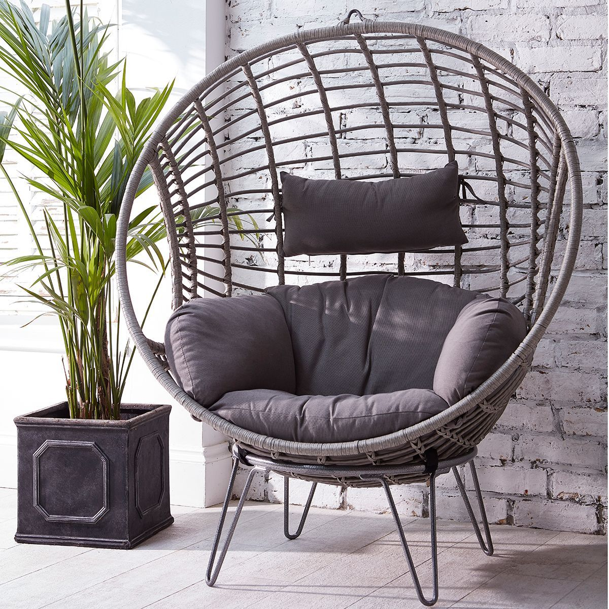 Notcutts Asolo Grey Wicker Chair  Notcutts  Notcutts  Wicker