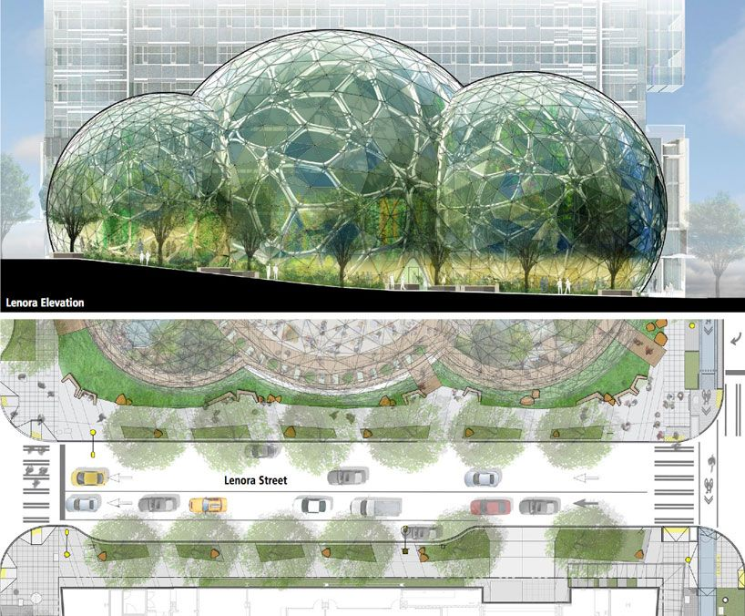 Amazon S Biodome Headquarters Nbbj Arch2o Com Biodome Roof Detail Environment Design