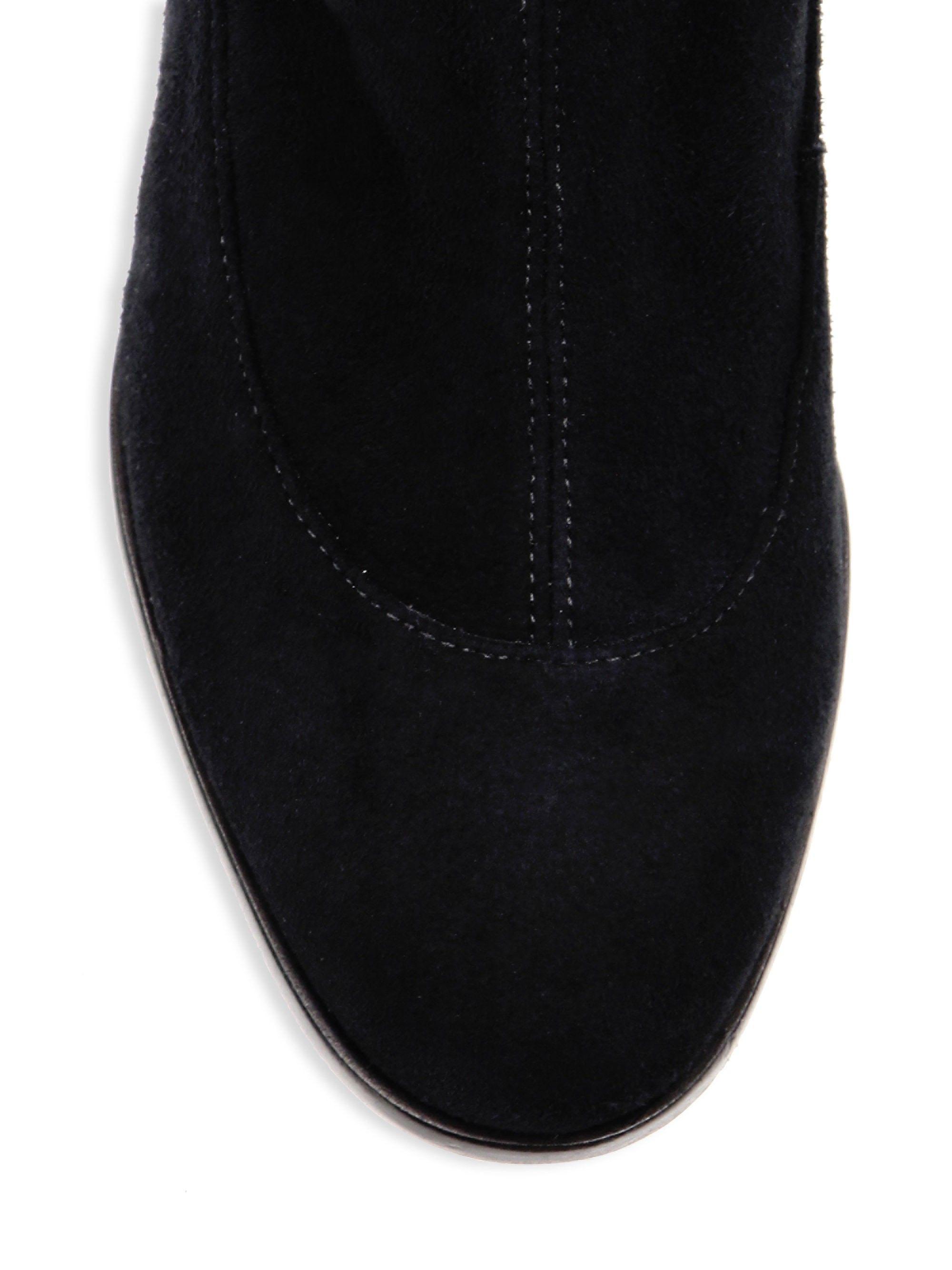 bab4de942b4 Sophia Webster Suranne Over-The-Knee Stretch Suede Boots - Black 40 (10)