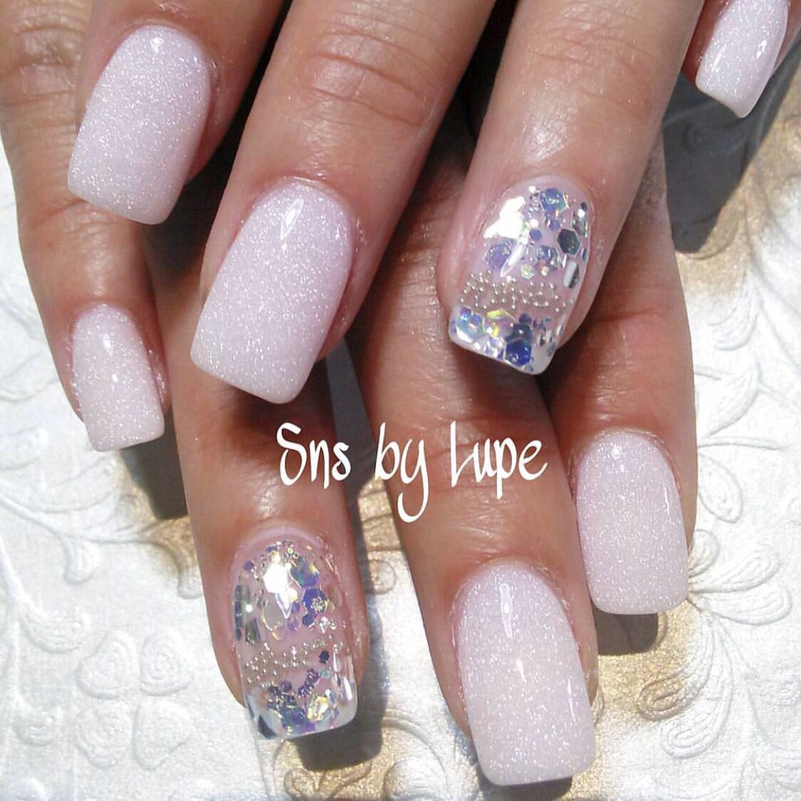 SNS nails dipping powder by Lupe ! | Nails | Pinterest | Manicuras ...
