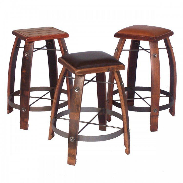 Brilliant Reclaimed Wine Barrel Stave Rustic Stool Stools In 2019 Pdpeps Interior Chair Design Pdpepsorg
