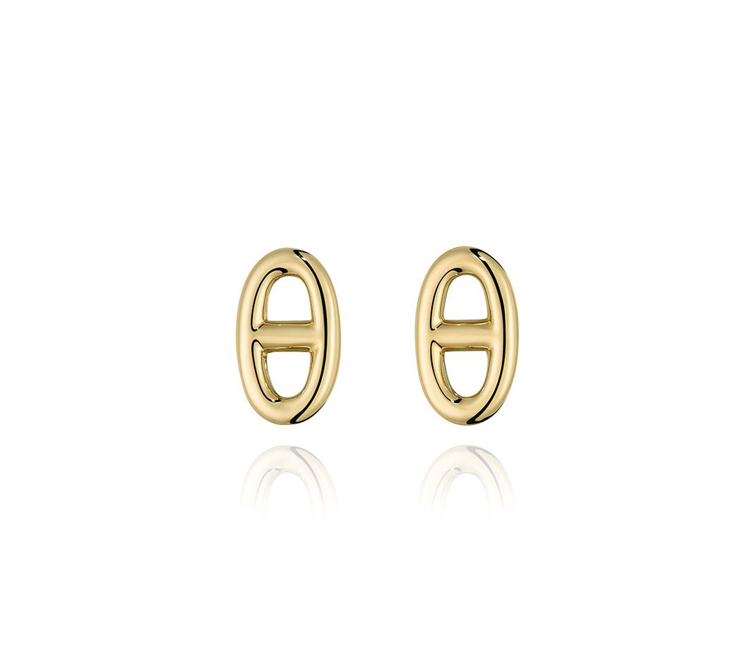 30297b7b1 Hermes earrings in yellow gold, TPM The Chaine d'Ancre collection was  inspired by