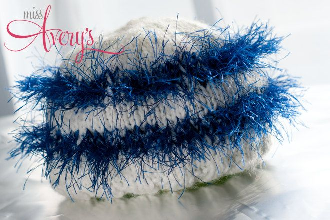 Blueberry Fun Hand Knit Baby Hat - photo prop - ready to ship - 6-18 months. $12.00, via Etsy.