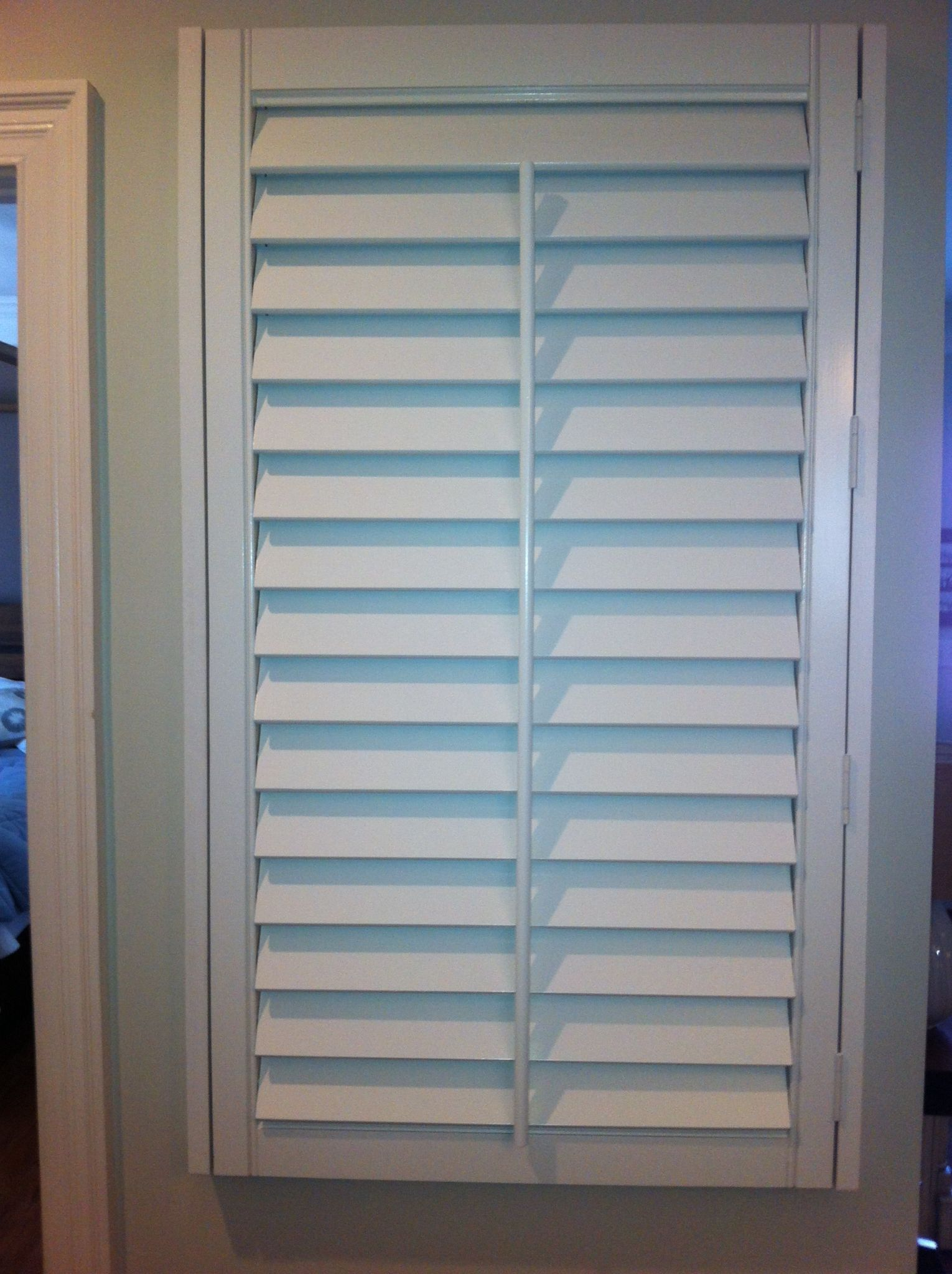 Plantation Shutter Covers The Ugly Air Return Vent In My