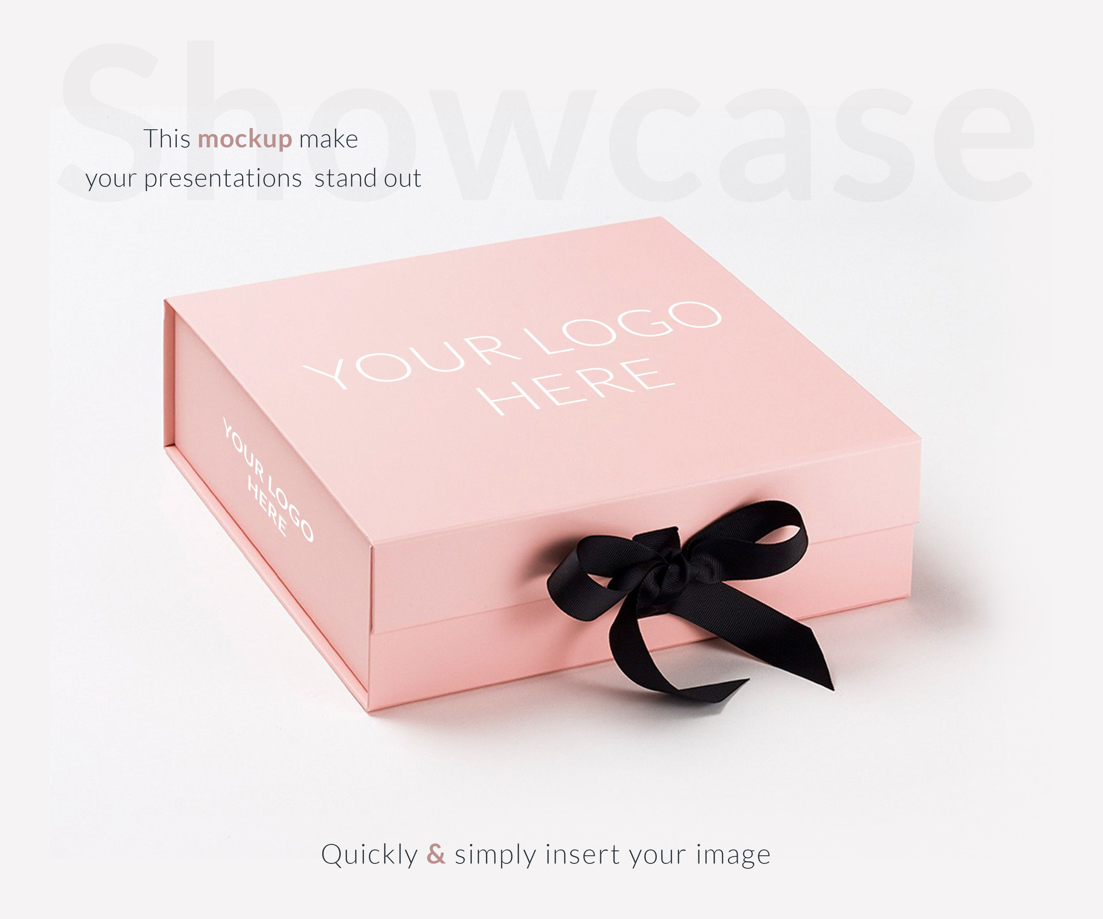 Download This Is Pink Gift Box Mock Up Psd Mockup Which Is Designed By Aleksandr Samochernyi A Freelance Designer Cont Pink Gift Box Gift Box Design Gift Box Packaging
