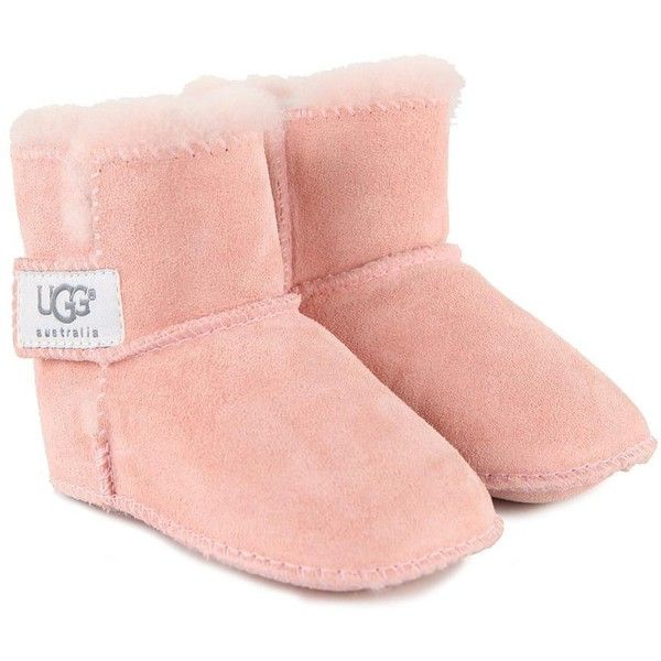 1206421b917 UGG Baby Erin Pale Pink Soft Sole Boots ($47) ❤ liked on Polyvore ...