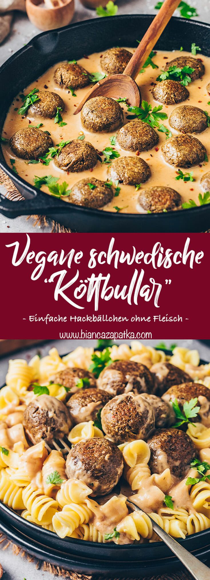 Vegane Köttbullar   Schwedische Hackbällchen - Bianca Zapatka   Rezepte