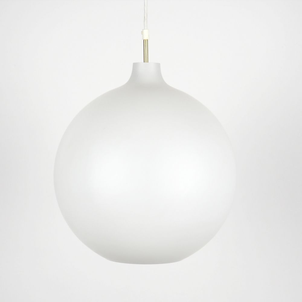 Louis Poulsen vintage Satellite XL opaline hanging lamp by