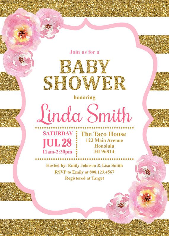 Baby Shower Invitation, New Baby, Dots, Bubbles, Navy, Pink, Blush - how to word a baby shower invitation