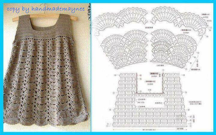 Todo para Crear ... : vestidos en crochet para nenas | Crochet ...