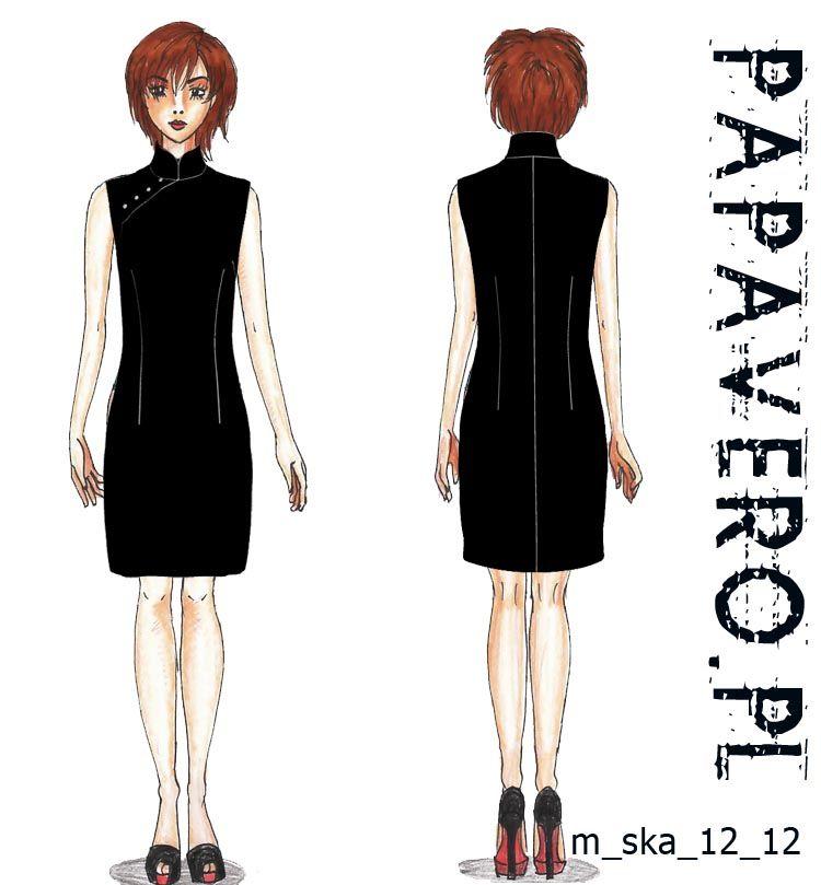 Schnittmuster Asiatisches Kleid - Free Dress Pattern | qipao ...