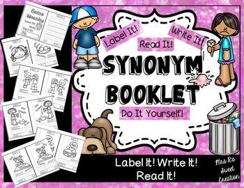 Kindergarten Writing Synonyms