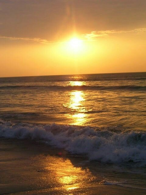 Peruvian ocean sunset