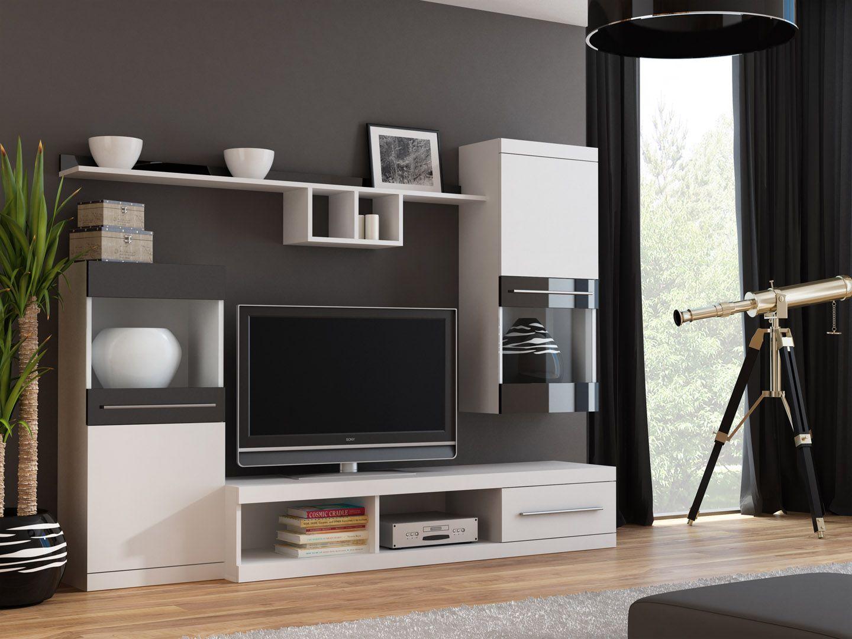 high gloss merida 2 modern tv wall unitswall units for