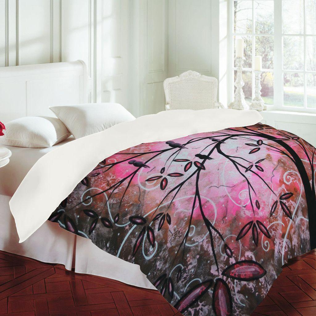 Madart Inc. Cherry Blossoms Duvet Cover Duvet covers