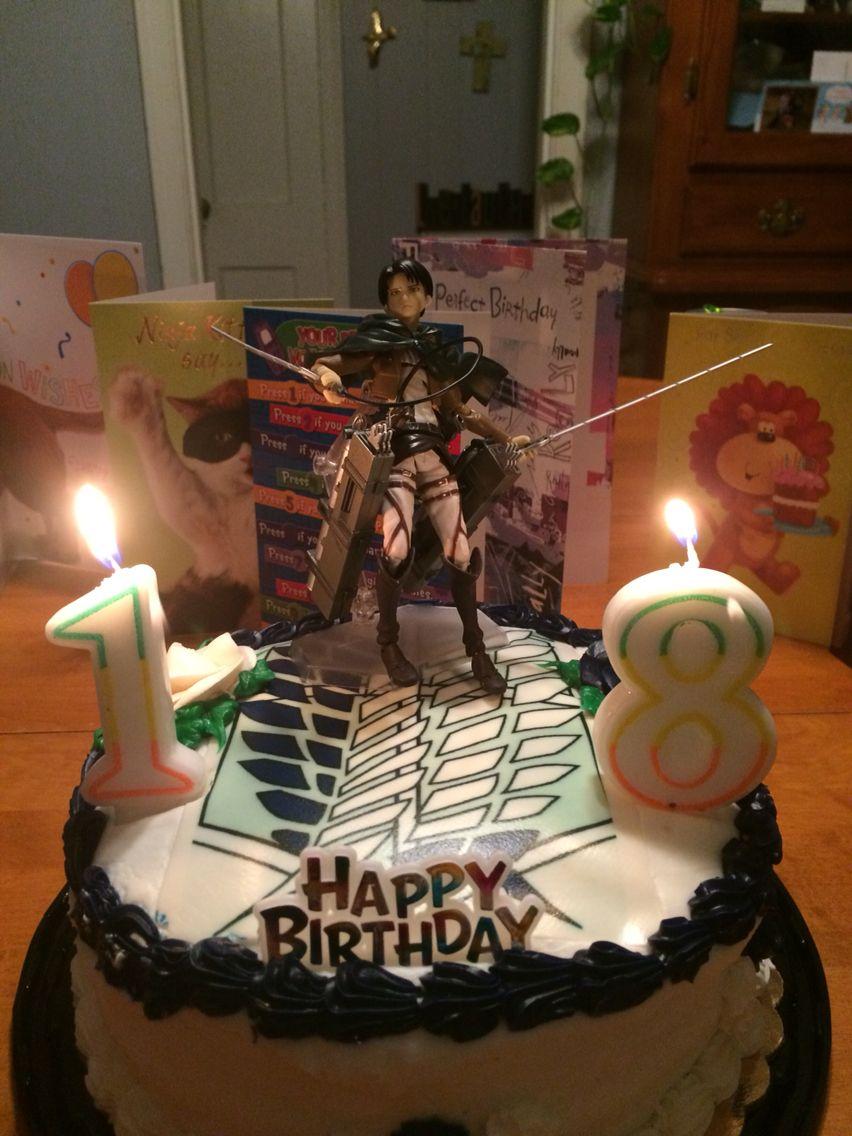 Attack On Titan Birthday Cake Anime Cake Sweet 16
