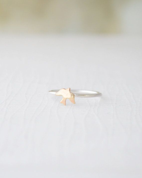 Tiny Bird Ring by Olive Yew christmas tidea