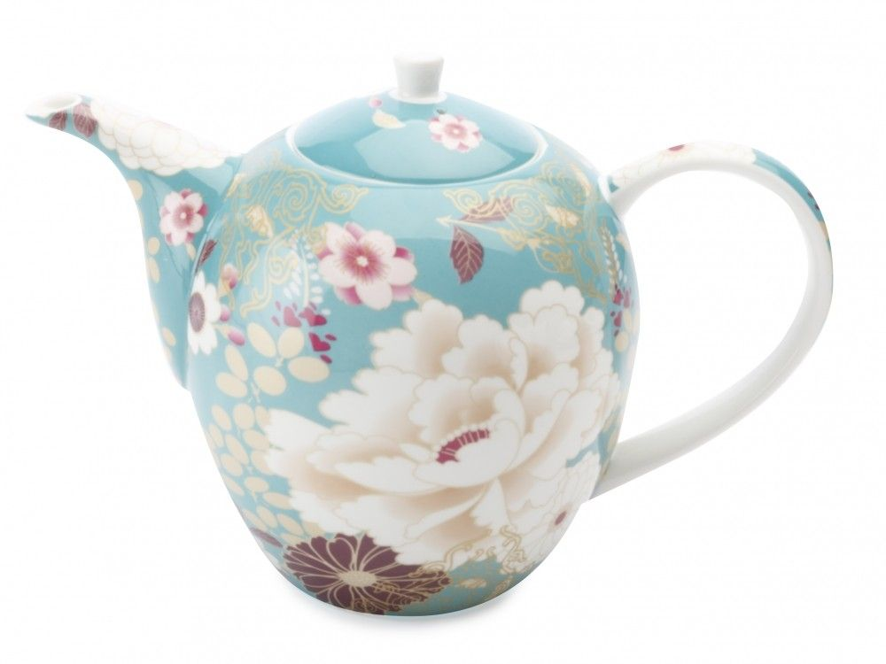 maxwell williams teal kimono teapot dinner wear in. Black Bedroom Furniture Sets. Home Design Ideas