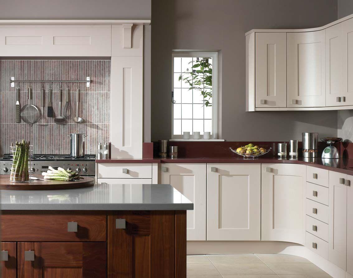 Cream And Grey Kitchen Walls