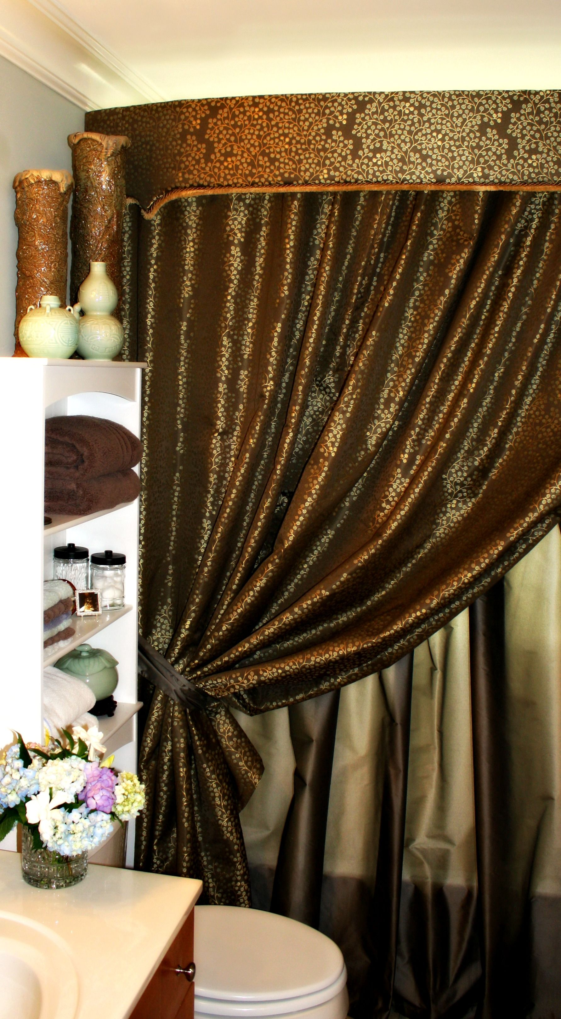 Opulent bathroom shower curtain for - Bathroom shower curtains and accessories ...