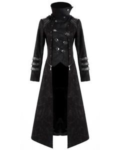 e0edc802241d6f Punk-Rave-Scorpion-Mens-Coat-Long-Jacket-Black-Gothic -Steampunk-Hooded-Trench