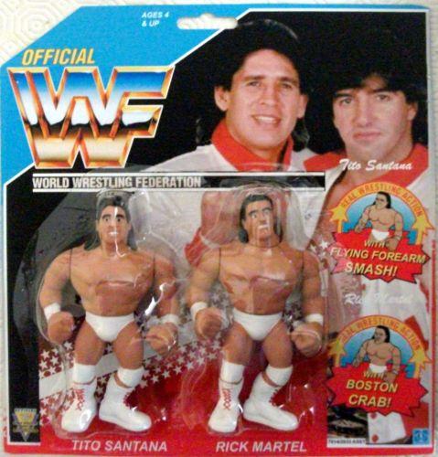 WWF Hasbro Custom Strike Force Tag Team Set Wrestling