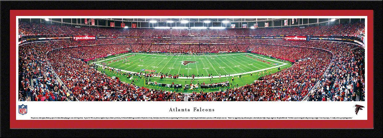 Atlanta Falcons Georgia Dome 50 Yard Line Panoramic Picture ...