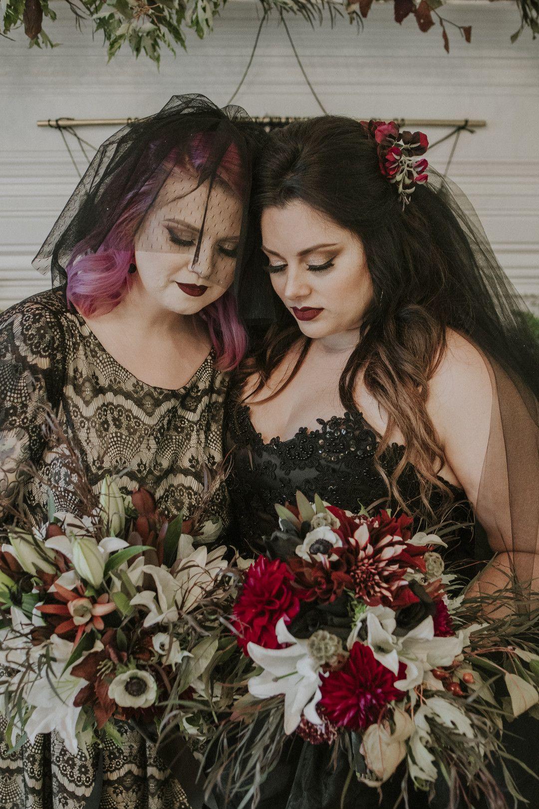 CLASSY DARK & MOODY HALLOWEEN WEDDING IDEAS Bride