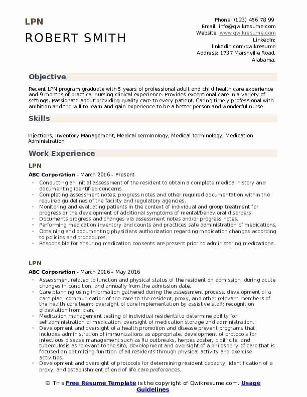 Lpn Resume With No Experience Lovely Lpn Resume Samples In 2020 Teacher Resume Examples Teacher Resume Teacher Resume Template