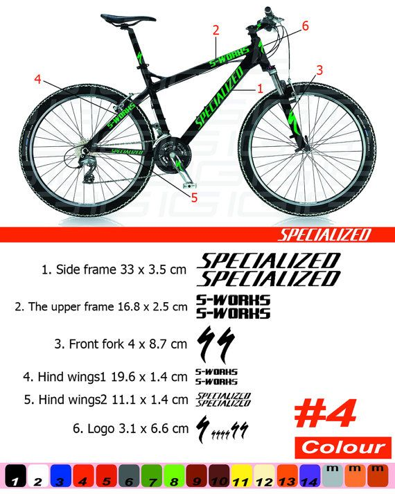 Specialized Vinyl decals Stickers for bicycle bike frame Cycle mtb road Cycling