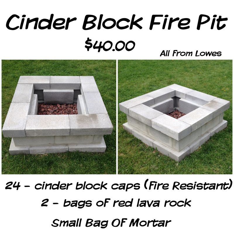 Learn How To Build A Cinderblock Fire Pit For Under 40 Cinder Block Backyard