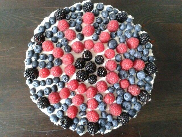 #delicious #brownie- mascarpone-fruit-cake #cake
