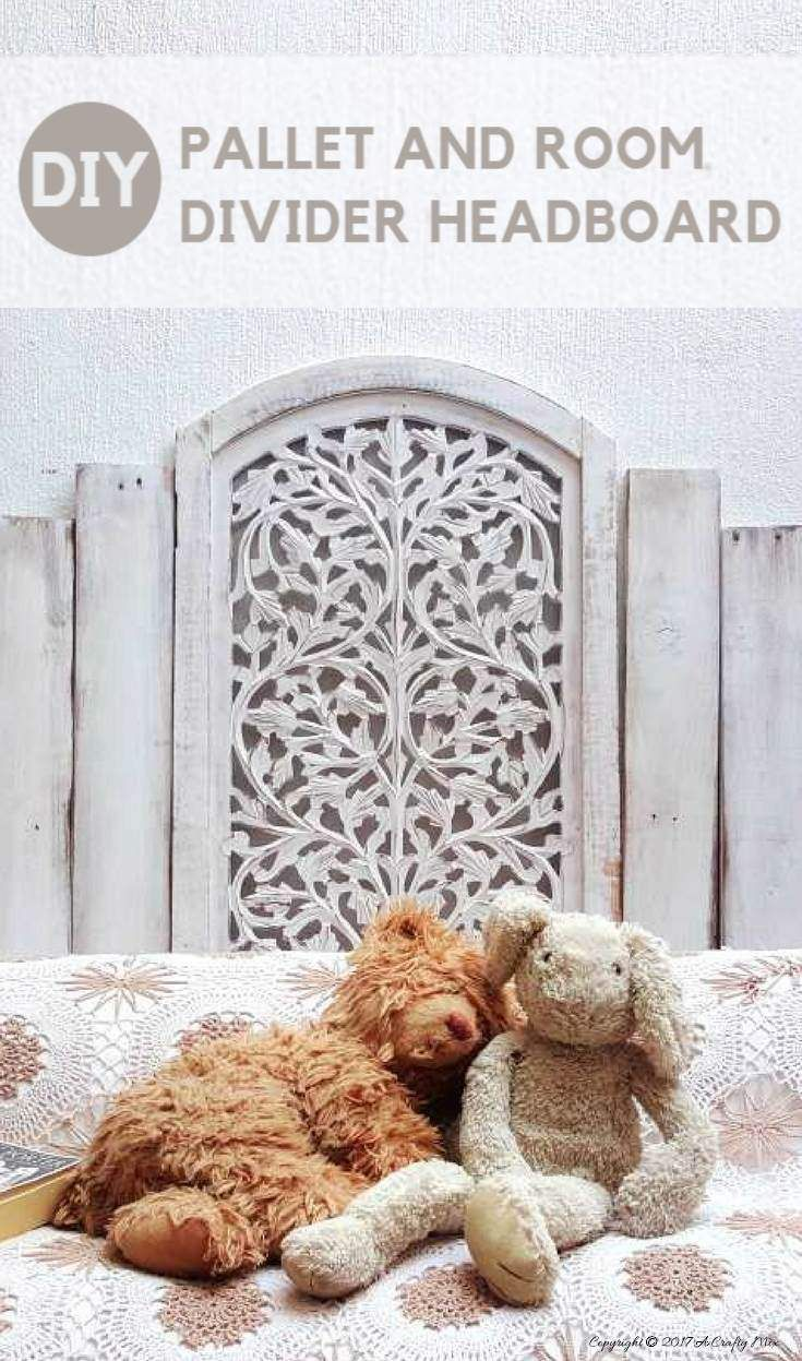 Youull love this charming update on a pallet headboard bedroom