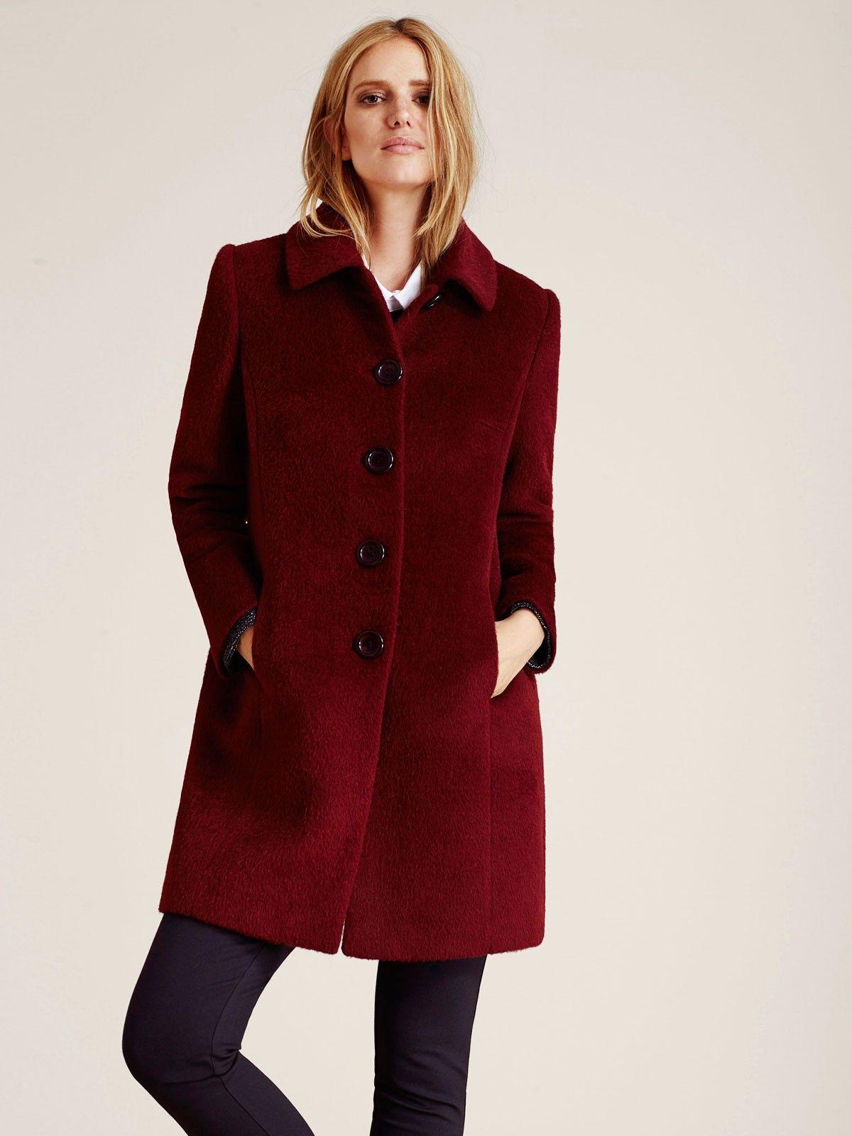 4ddf3b76d22 Abrigo alpaca rojo quemado-1 coleccion javier simorra | Vestidos ...