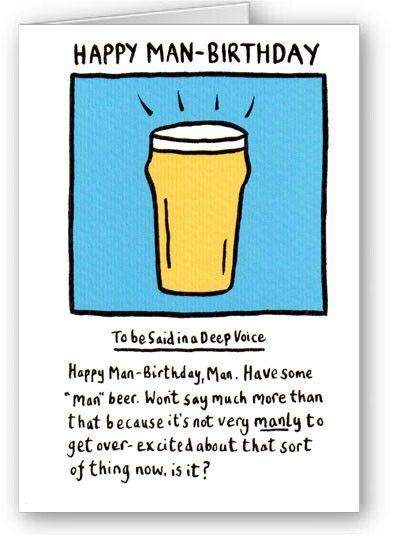 Happy Birthday Card For Man