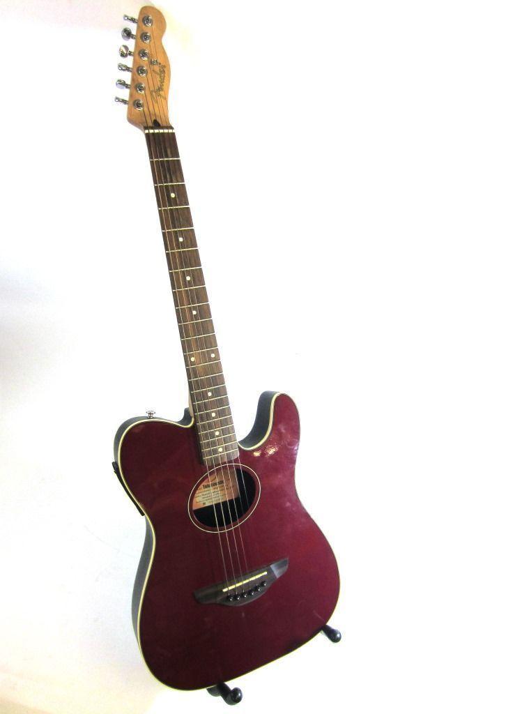 fender telecoustic acoustic electric guitar guitar collectibles guitar fender guitars. Black Bedroom Furniture Sets. Home Design Ideas