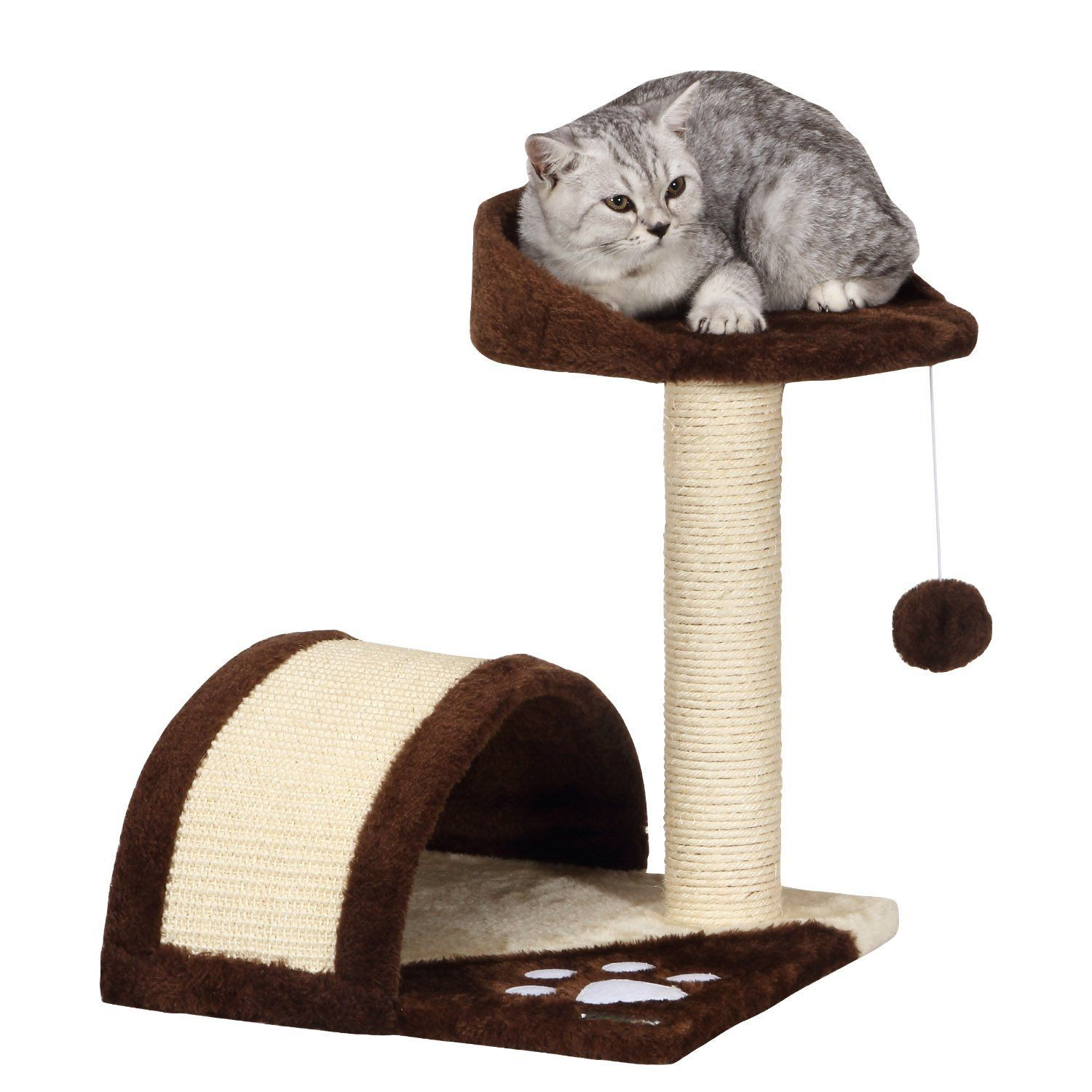 Ollieroo Cat Tree Scratching Post With Integrated Play House Kitten Toy And Bed Click Image For More Details This Is An Af Small Cat Tree Homemade Cat Toys Cat Tree