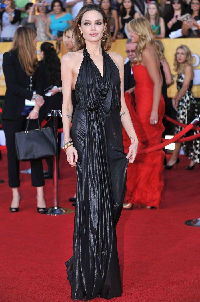 Angelina in Jenny Packham SAG awards 2012 Jenny