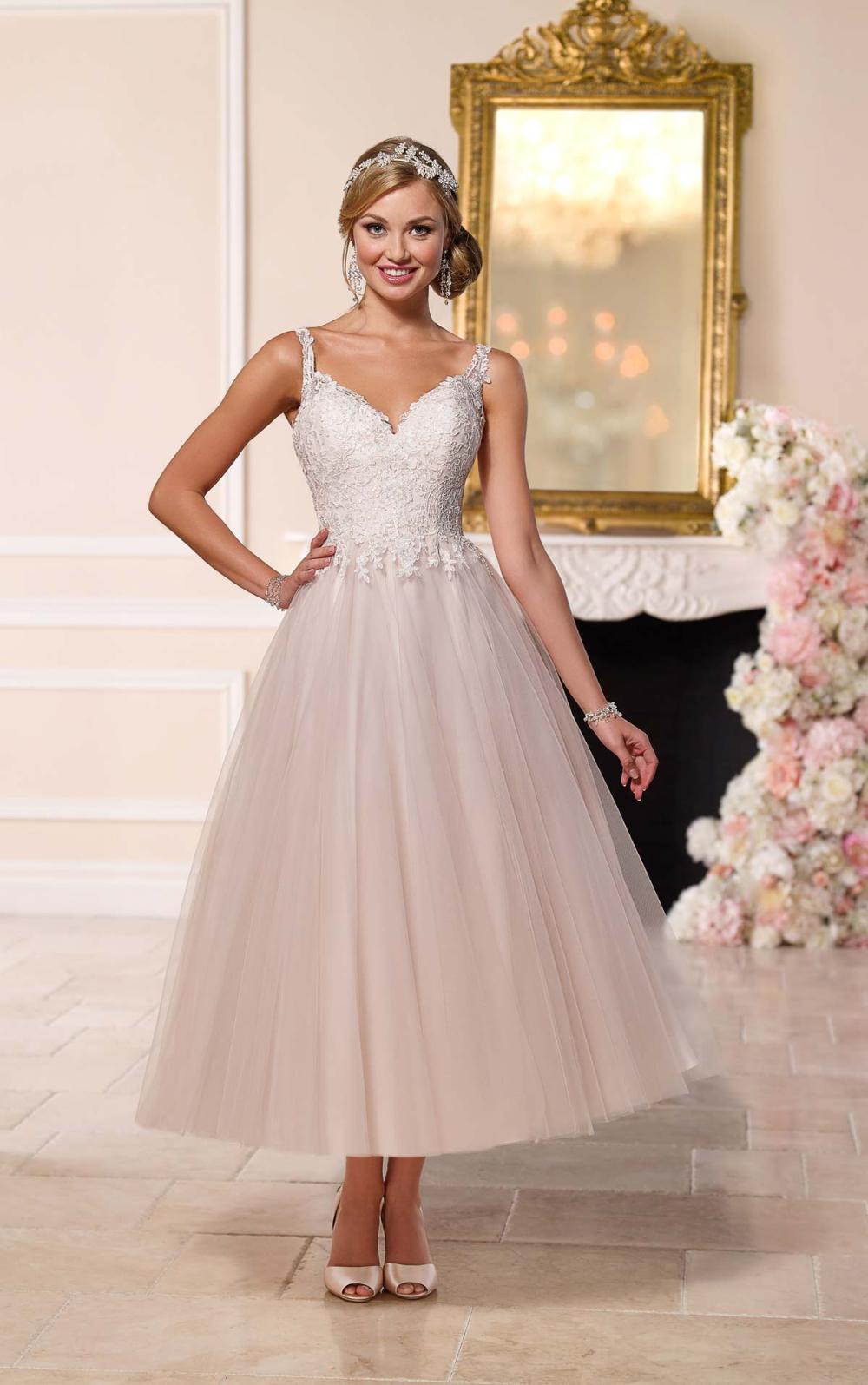 Tee-Länge Brautkleid mit Tüllrock | Stella York Brautkleider