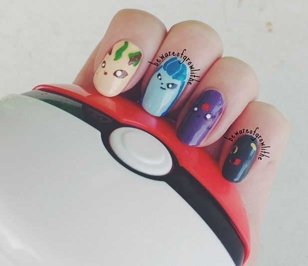 Pokemon Nails (Eevee-lutions Continued) @Luuux