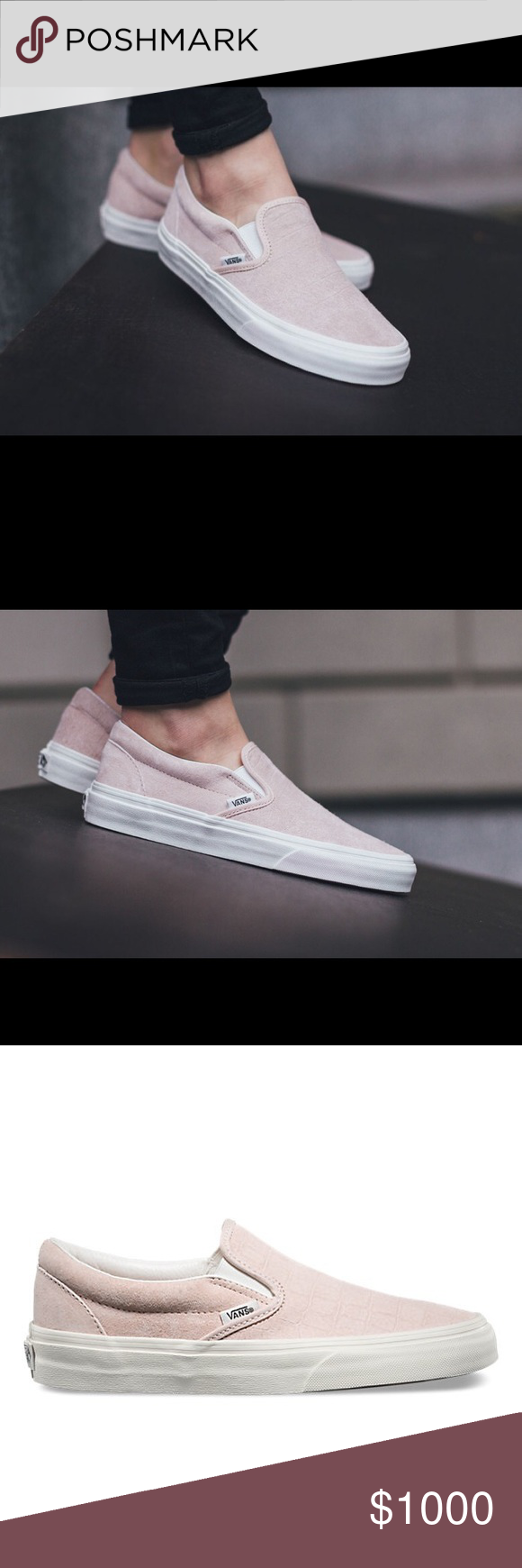 6e9a79ac68f126 ISO  Vans Classic Slip-on Iced Pink Croc Emboss In search of these vans