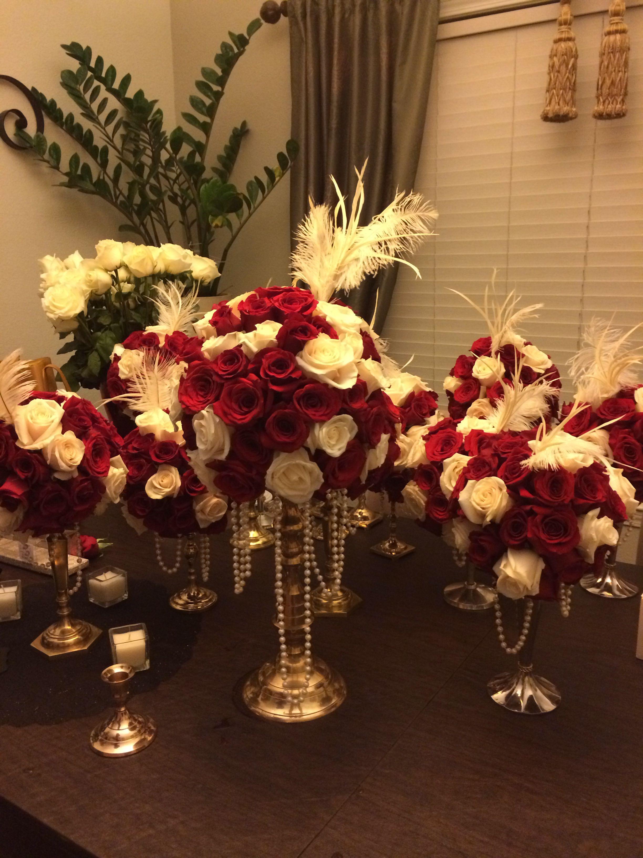 1920s wedding decoration ideas  My diy Great gatsby centerpieces  Decor ideas  Pinterest  Gatsby