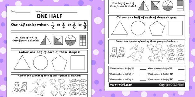 Fractions Halves Activity Sheet numeracy maths half fraction – Fraction Worksheets Ks1