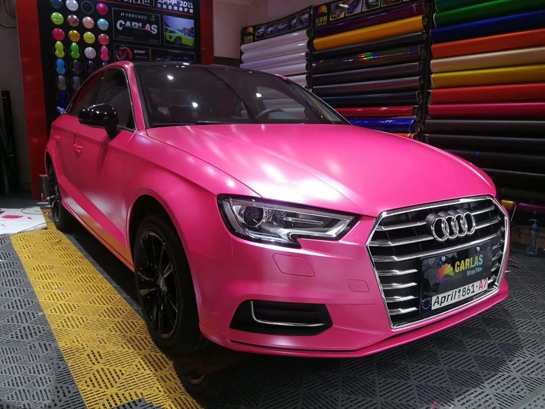 Pink Matte Metallic Wrap