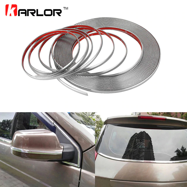 Chrome DIY Moulding Trim Strip 3M*20mm Great For Interior /& Exterior Decorating