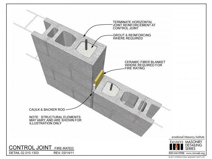 02 010 1303 Control Joint Fire Rated Masonry Masonry Wall Wall Systems