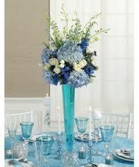Tall Blue Centerpiece Blue Centerpieces Flower Centerpieces Wedding Wedding Centerpieces