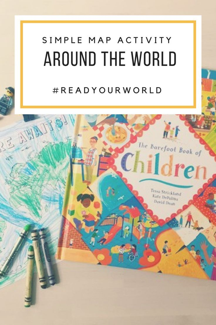 Simple around the world map activity map activities barefoot simple around the world map activity from bambini travel read your world multicultural kids book day barefoot books maps preschool kindergarten gumiabroncs Images